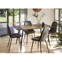 CARREFOUR HOME - Lot de 2 chaises diamant