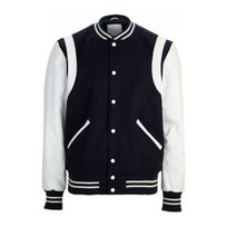 Selected - Blouson cuir Teddy Greaser