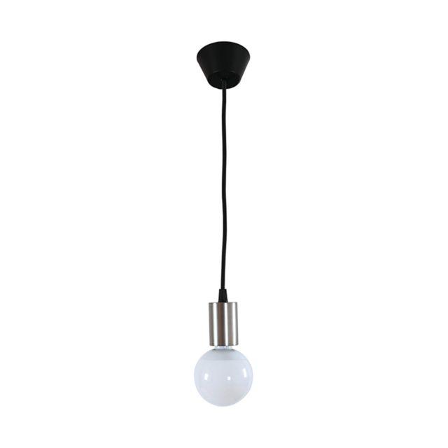 Zeeshop Ampoule suspendue Led design 5W, luminaire pendant avec culot en métal brillant style industriel/retro - finition chrome