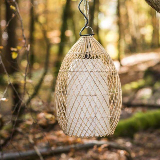 Wanda Collection Lampe suspension en osier 37 cm