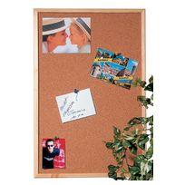 Hebel - Tableau en liège pour punaise avec cadre en bois - 60 cm x 40 cm