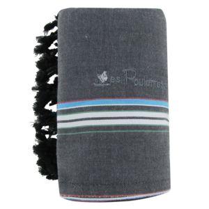 soldes les poulettes bijoux kikoy serviette plage coton eponge couleur gris souris bleu ciel. Black Bedroom Furniture Sets. Home Design Ideas