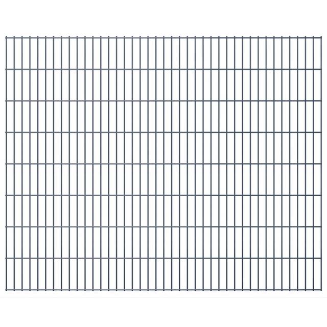Vidaxl 2D Panneaux de clôture jardin 2008 x 1630 mm 46 m Gris