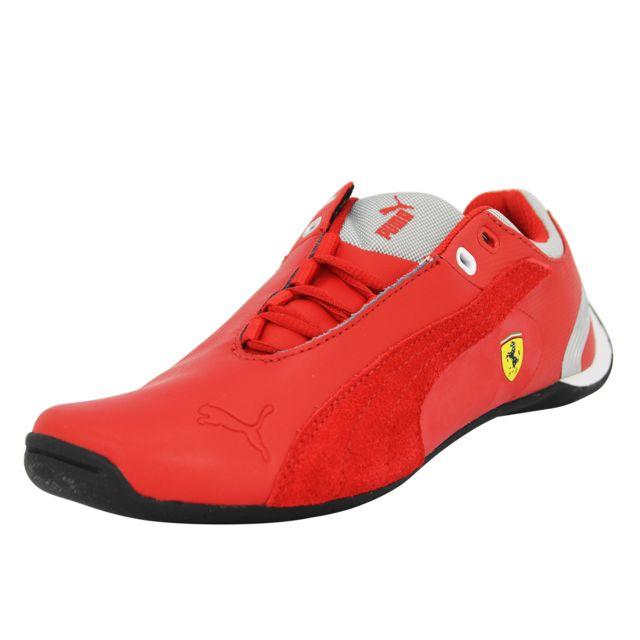 5268e8e277c0a Puma - Puma Junior Future Cat M2 Sf Ferrari Chaussures Mode Sneakers Enfant  Cuir Rouge Ortholite