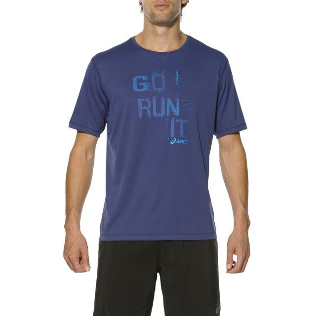 Asics Short Sleeve Tee T shirt course à pied Homme