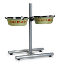 "Beeztees - Double bol d'alimentation avec support en H ""Take It Away"" 25 cm"