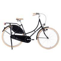 "KS CYCLING - Vélo hollandais dame 28"" Tussaud Singlespeed Noir TC 53 cm"
