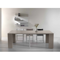 Square Deco - Table Console Extensible Capri Taupe 4 Allonges