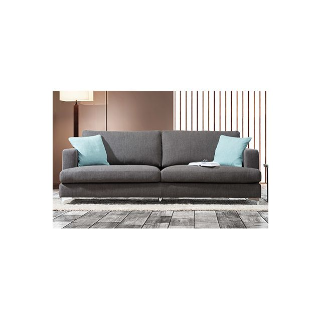Canapé 3 places pieds métal - coloris anthracite