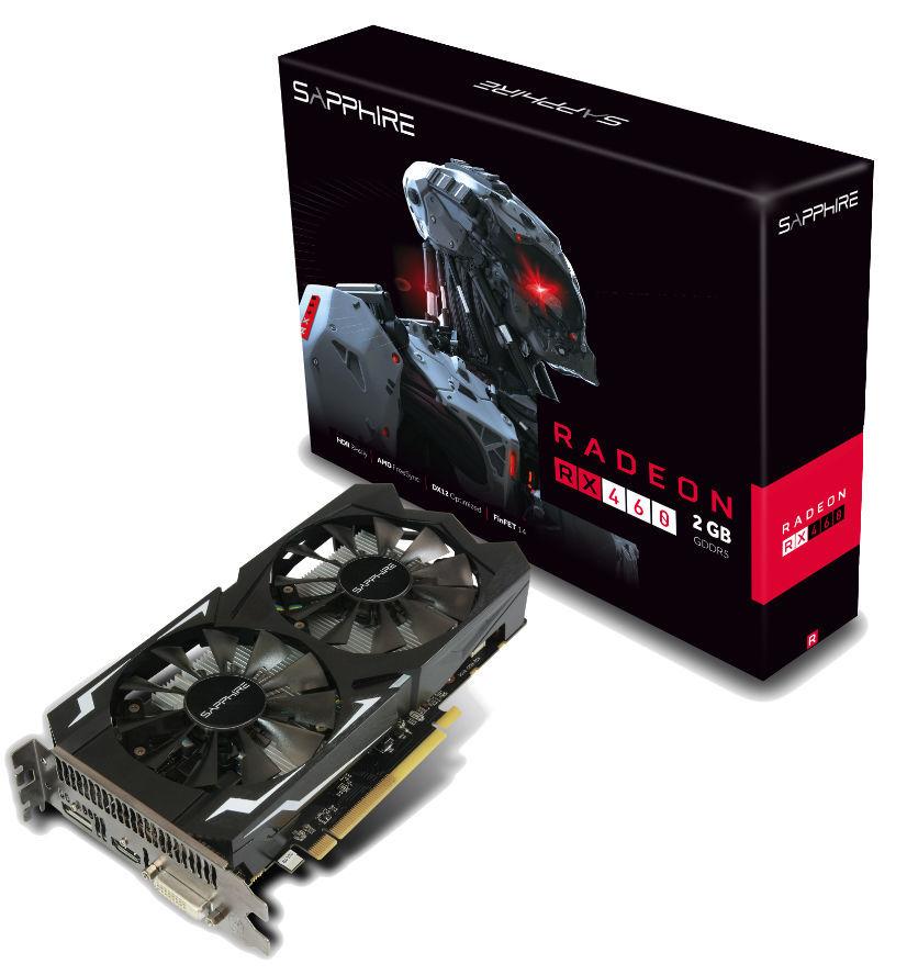 RADEON RX 460 2G GDDR5 PCI-E HDMI / DVI-D / DP OC UEFI