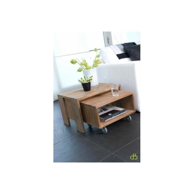Dbodhi Table basse teck 1 case