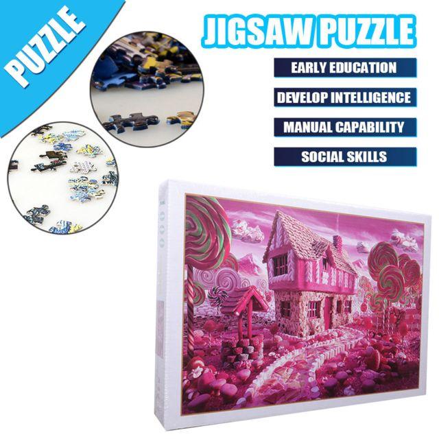 GÉNÉRIQUE Enfants adultes Puzzle vacances cadeau Puzzle jouet 1000 Pc Puzzle paysage motif