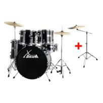 "Xdrum - Semi 22"" batterie standard Midnight Black Set incl. pied cymbale + cymbales crash"