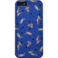 Paul Joe - Coque Paul & Joe bleue motif renard pour iPhone 5/5S