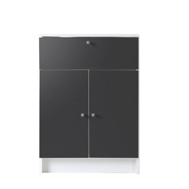Last Meubles Élément de salle de bain équipé de 2 portes + tiroir + rayon