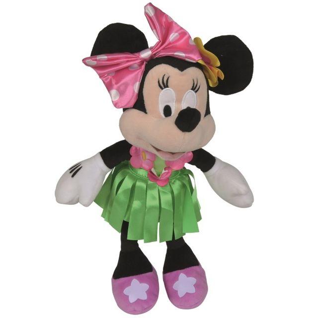 ed2e7e482318b Nicotoy - Peluche Disney Minnie Hawaii Robe Verte 32 cm - Peluche licence
