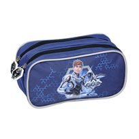 Max Steel - Trousse rectangulaire 2 compartiments bleue
