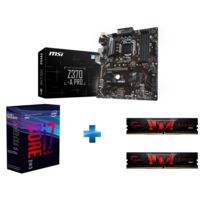 Processeur i7-8700 -Socket 1151 - 3.2 Ghz - Cache 12M - Coffee Lake + Carte mère ATX - Socket LGA1151 - Chipset Z370 + DDR4 Gaming Series - Aegis PC4-19200 / DDR4 2400 Mhz2 x 4GB CAS 15-15-15-35