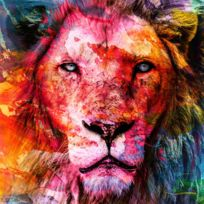 Artis - Toile imprimée Painting Lion 65 x 65 cm