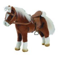 Gotz - Accessoires de poupées : Götz Boutique : Peluche Cheval articulé avec sel et harnais : Marron