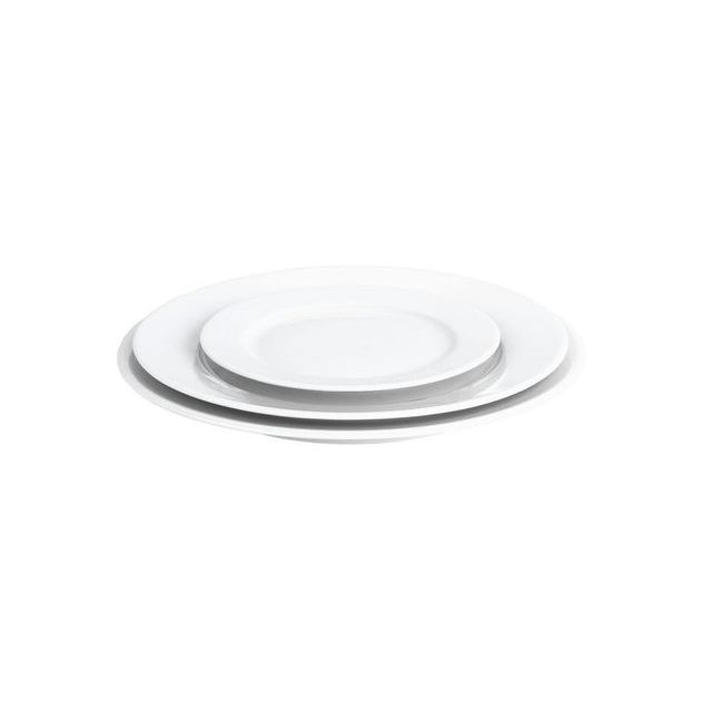 pillivuyt assiette plate ronde blanche 28cm en porcelaine sancerre pas cher achat vente. Black Bedroom Furniture Sets. Home Design Ideas