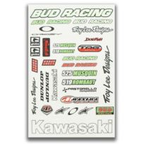 Bud Racing - Planche autocollant Dirt bike / Pit bike / Mini Moto