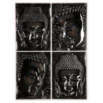 Stick'n Look - Sticker Relief Bouddha - 38 x 50 cm - Gris