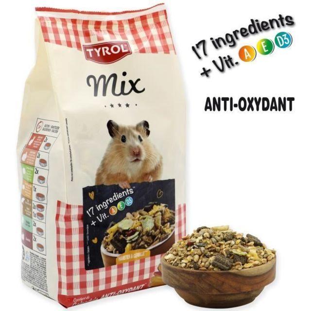Icaverne GRAINES Menu complet Premium Mix - Pour hamster et gerbille - 750 g