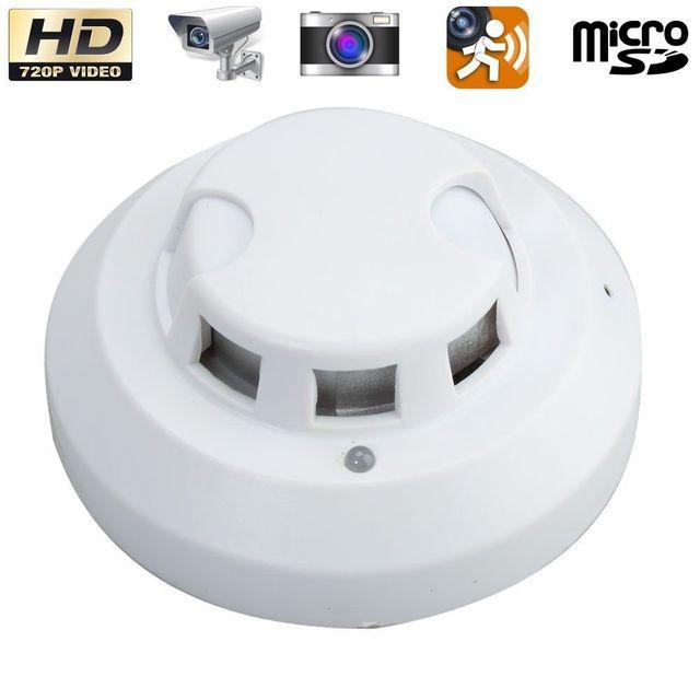 Yonis - Détecteur de fumée caméra espion Hd 720P détection de mouvement