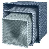 Sebra Interior - Lot de 3 paniers tressés - Bleu