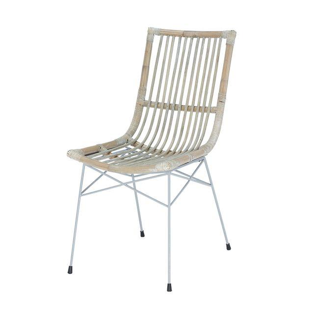 rotin design chaise remi en rotin kubu bois gris pas cher achat vente chaises rueducommerce - Chaise En Rotin