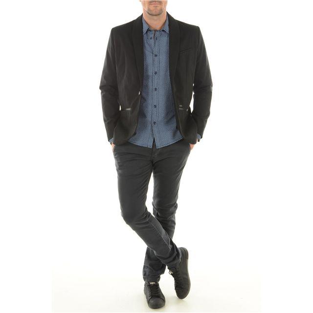 Pepe Jeans - Blazer Coton Noel - pas cher Achat   Vente Veste homme -  RueDuCommerce 9eb29c7c468