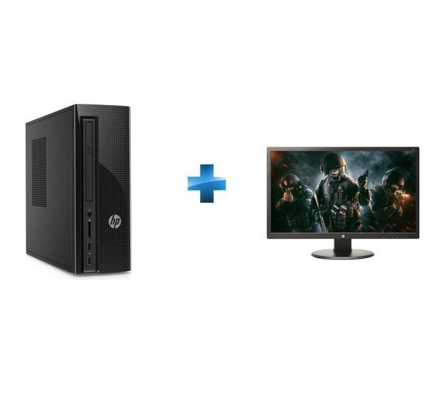 HP - Slimline 260-a138nf - Noir + Écran 24'' LED