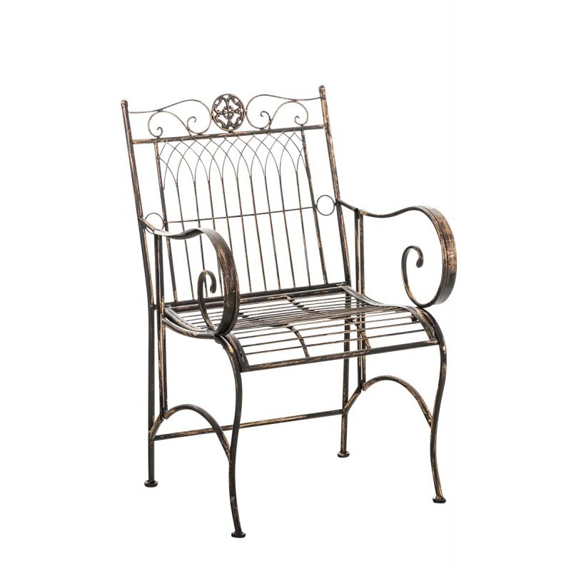 De Avec Jardin Vieilli En Métal Accoudoir Chaise Decoshop26 Bronze rxBeCdo