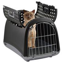 Imac - Transport Linus Cabrio pour Chien et Chat - Anthracite