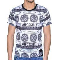 Celebrytees - Celebry Tees - T Shirt - Homme - Maya - Blanc