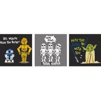 Declikdeco - Triptyque Impression Star Wars Comics 3/30x30 Galaxias