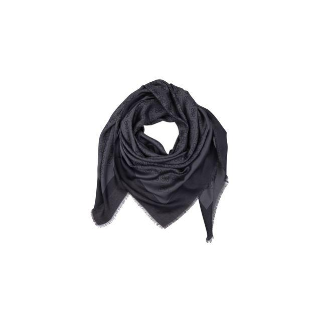 ce3c33254946 Guess - Foulard Keffieh Femme Imprimé Logo Noir - pas cher Achat   Vente  Etoles, châles - RueDuCommerce
