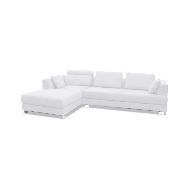 PRIVATEFLOOR Canapé design Due Mondo 3 places, Boretti Angle droit