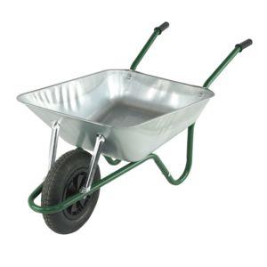 dedans dehors brouette de jardin galvanise 1 roue pas cher achat vente chariots de. Black Bedroom Furniture Sets. Home Design Ideas