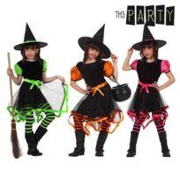 Déguisement Fille Sorcière 5//6 Ans Costume Enfant Halloween NEUF Pas cher
