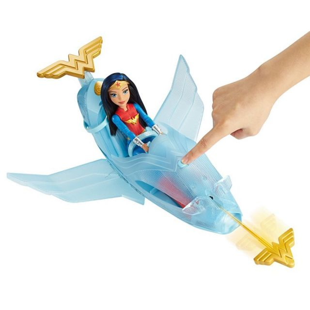 MATTEL DC Comics - WONDER WOMAN et son jet invisible - DYN05 Osera tu partir en mission avec Wonder Women à bord de son avion invisible ?!