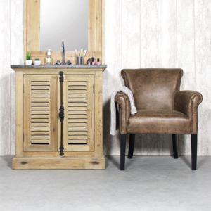 Made In Meubles Meuble Salle De Bain Bois Massif à Clayettes - Meuble de salle de bain en bois massif