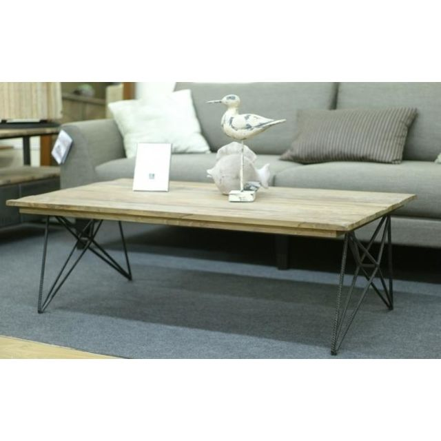 Dbodhi Table basse teck rectangulaire solo