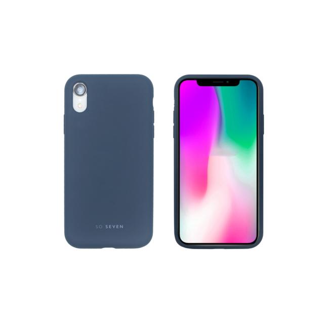 coque iphone xr bleu marine