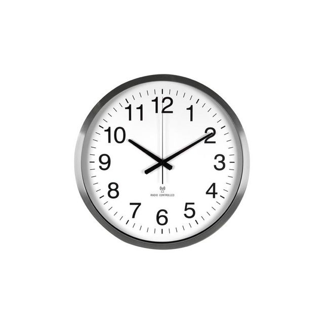 Perel - Horloge murale dcf en aluminium - ø 50 cm