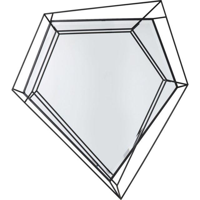 Karedesign Miroir Wire diamant noir 104x92cm Kare Design