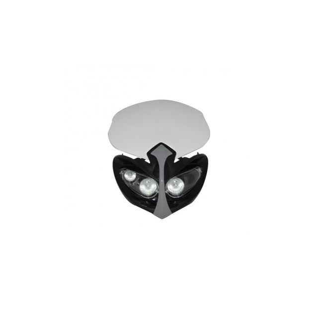 Phares Masque Enduro double optique Noir