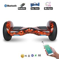 COOL AND FUN - Cool&FUN Hoverboard Bluetooth Tout terrain, gyropode 10 pouces modèle Horseboard Rouge flame