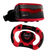 VR RACING GAMING - Casque de réalité virtuelle + Volant - VR Real Feel Racing Gaming - Rouge